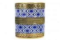Bracelet manchette doré large