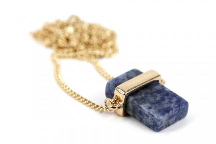 Collier sautoir pierre brute et naturelle