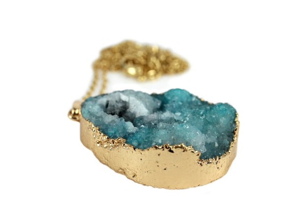 Sautoir Quartz Turquoise