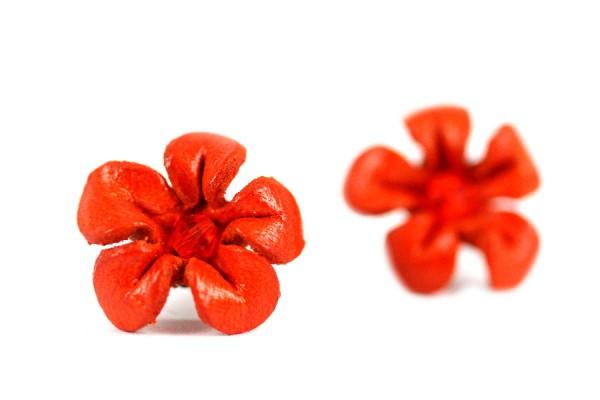 Boucles d'oreilles cuir Mandarine