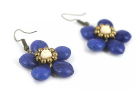 Boucles d'oreilles pendantes dorées or