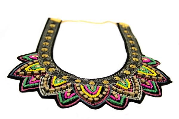 Collier motif style aztèque argent femme