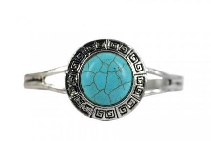 Bracelet rigide argent artisanal
