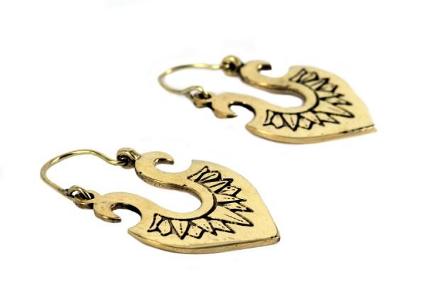 Boucles d'oreilles or pendantes