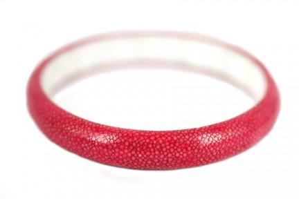 Bracelet manchette galuchat cuir de raie