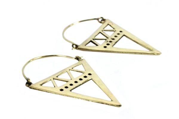 Boucles d'oreilles style ethnique triangles