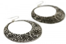 Boucles d'oreilles anneaux créoles fantaisie pas cher