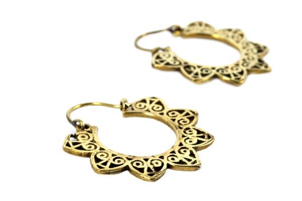 Boucles d'oreilles ethniques bronze