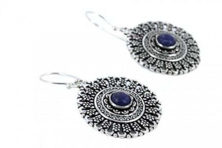 Achat boucles d'oreilles lapis lazuli