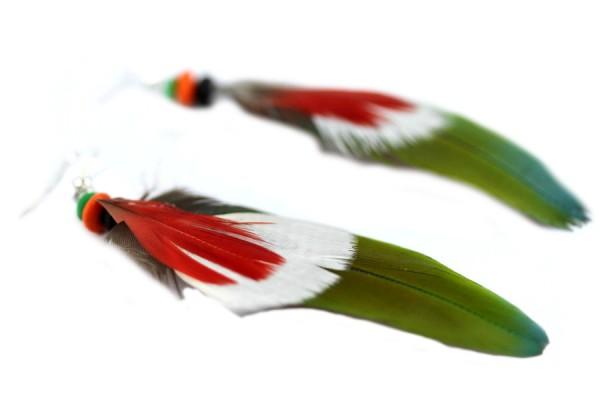 Boucles d'oreilles plumes amérindiennes
