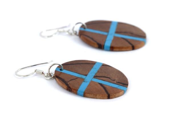 Boucles d'oreilles en bois tourné précieux