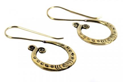 Boucles d'oreilles tribales or dorées