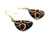 Boucles d'oreilles en lapis lazuli doré or