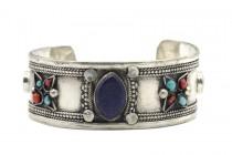 Bracelet en lapis lazuli et argent de créateur homme et femme