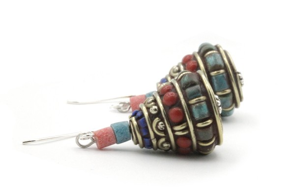 Boucles d'oreilles traditionnelles indiennes