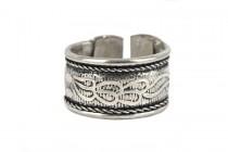 Bague homme métal argent pas cher