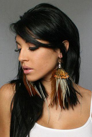 bijoux en plumes