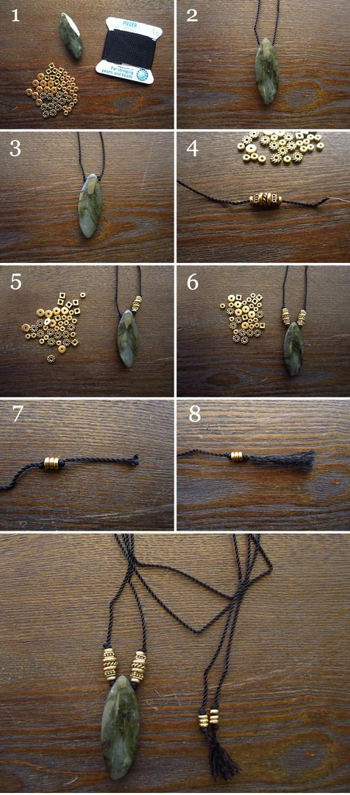 fabriquer collier sautoir