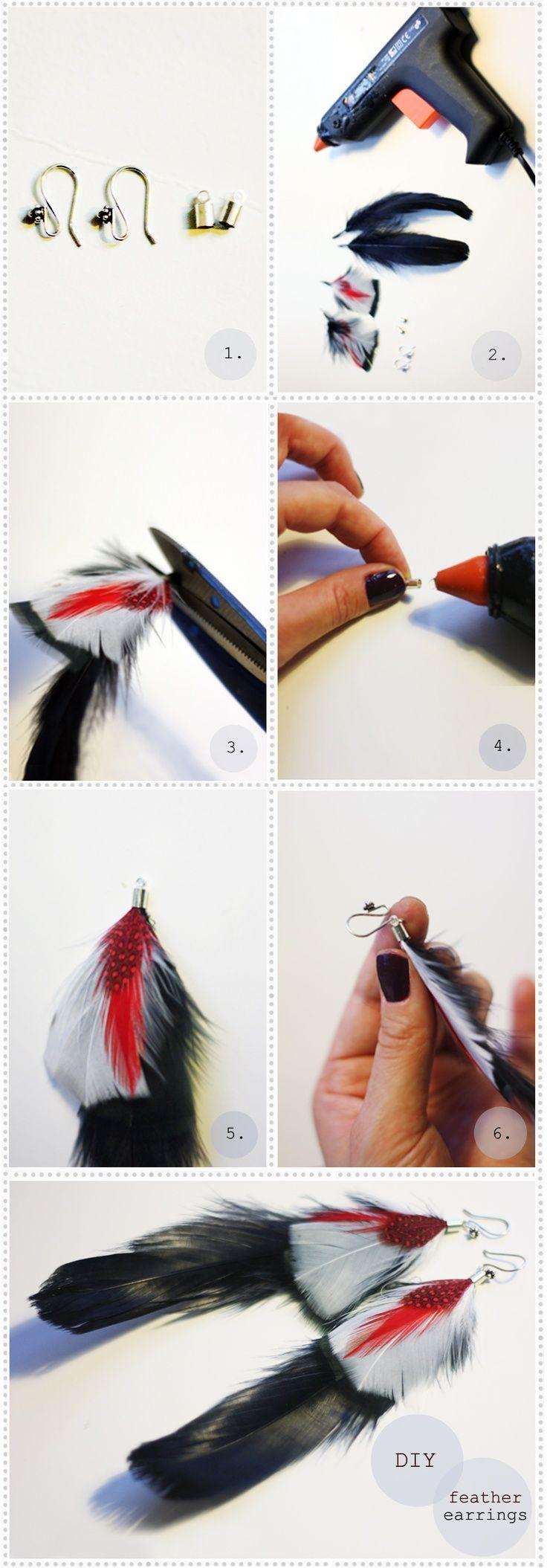 comment fabriquer bijoux plumes