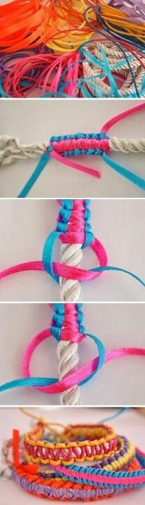 comment faire fabriquer un bracelet en corde en fin de. Black Bedroom Furniture Sets. Home Design Ideas