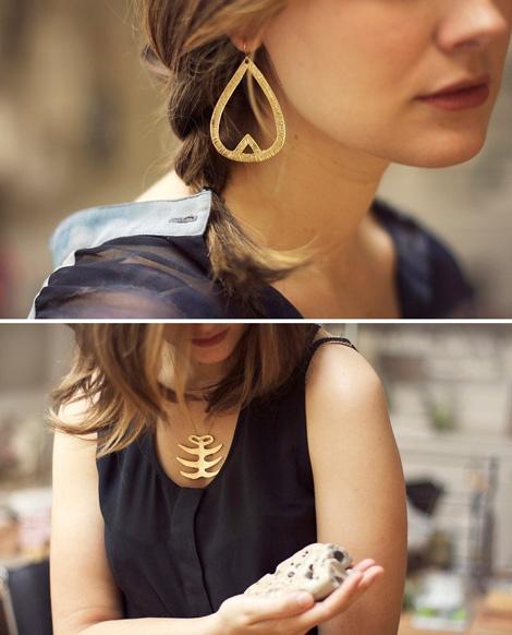 bijoux metal dore