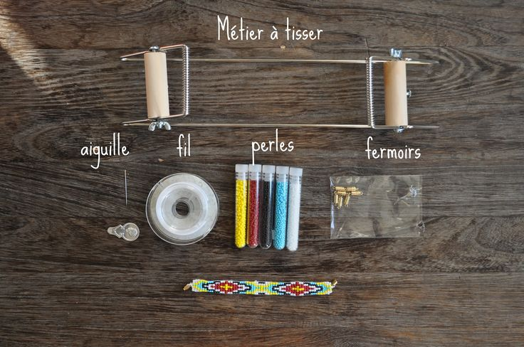 fabrication bracelet bresilien perles