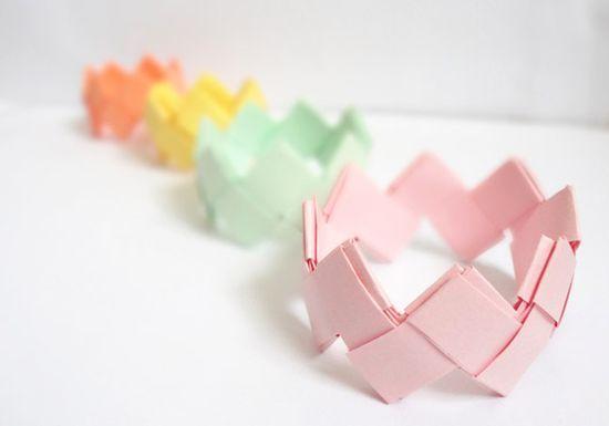 fabriquer bijoux papier recycle