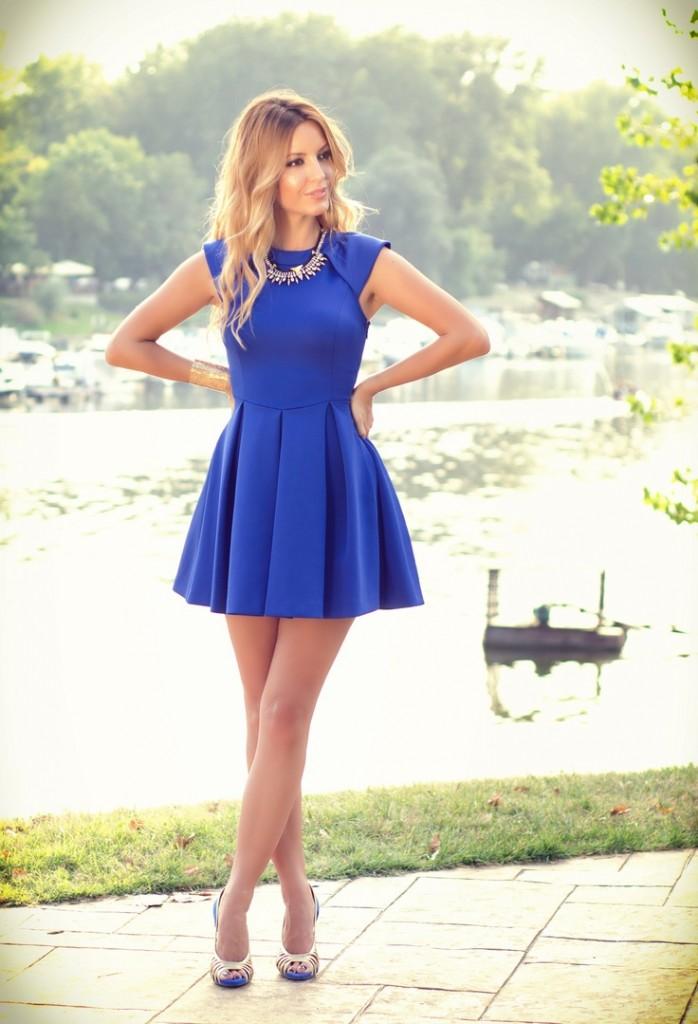 quels bijoux pour une robe bleu pastel - Robe Bleu Electrique Mariage