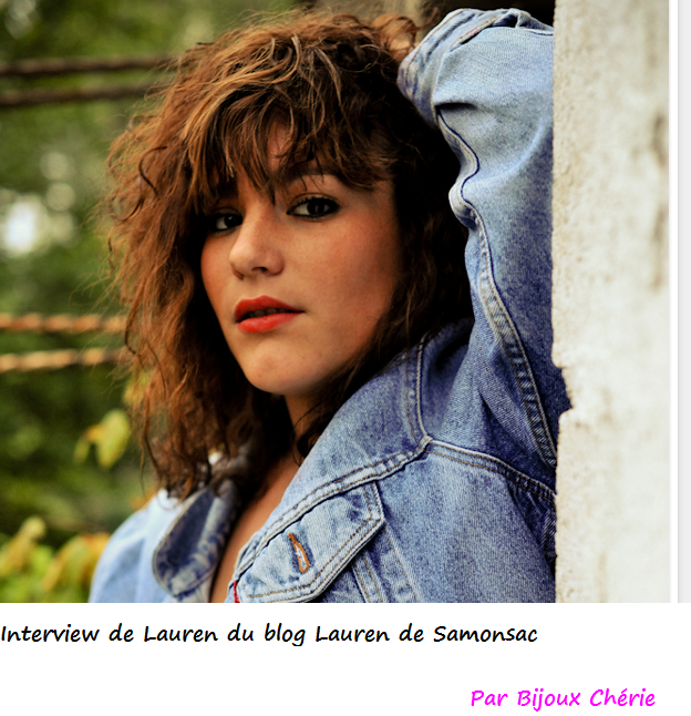 Interview de Lauren du blog Lauren de Samonsac