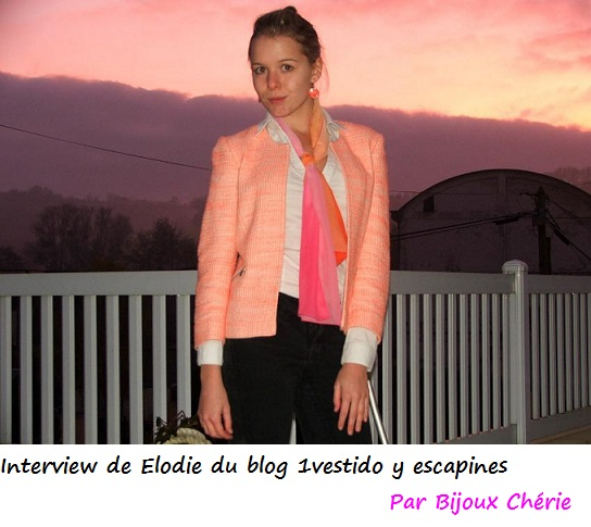 Interview de Elodie du blog 1vestido y escapines