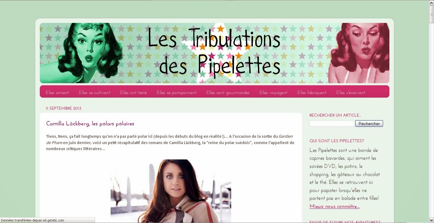 blog tribulations pipelettes