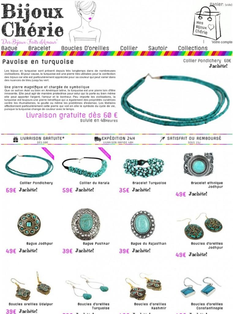 Bijoux turquoise pour femme et homme