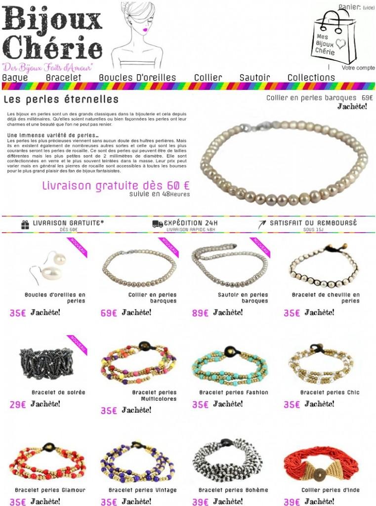Creation bijoux en perles et pas cher
