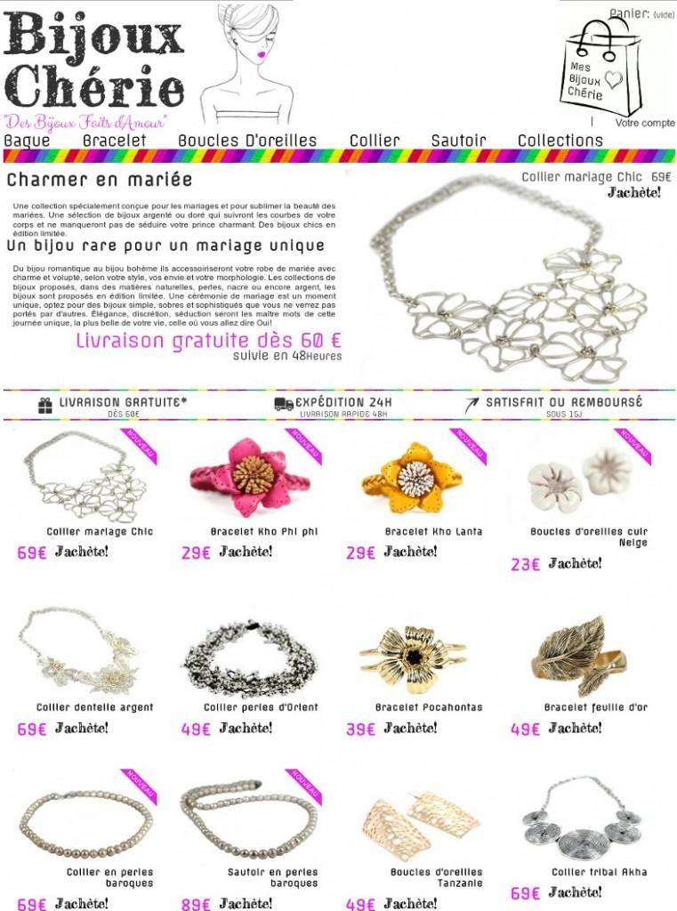 collection bijoux mariage boheme