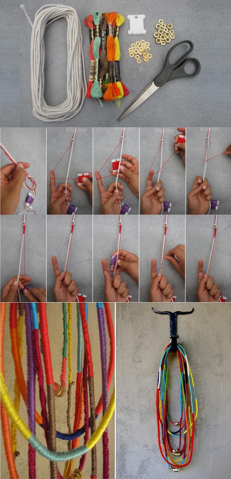 Collier d 39 amiti fabriquer - Fabriquer porte bijoux facile ...