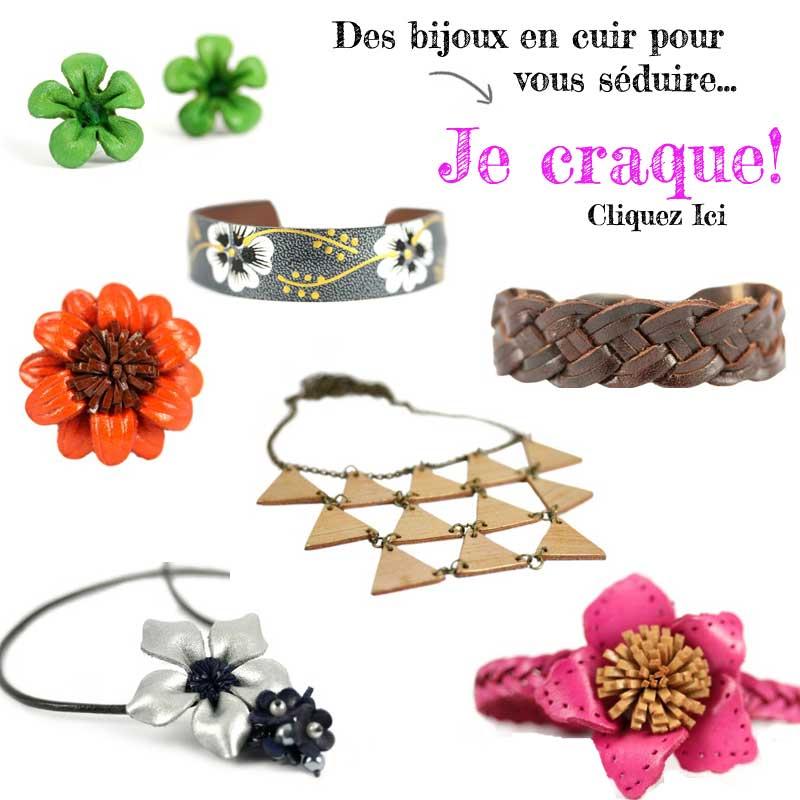 bijoux cuir tendance