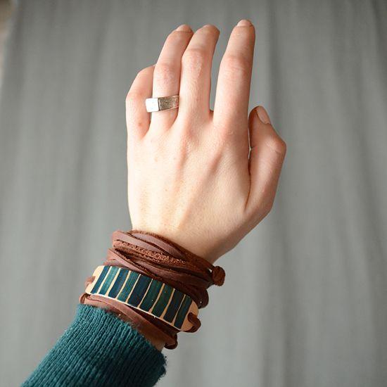 mettre bracelet cuir dans eau