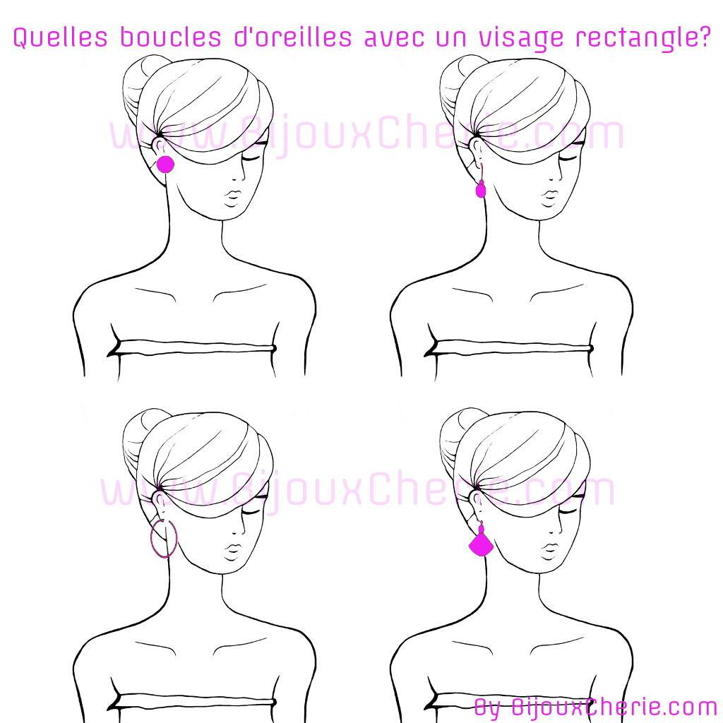 Comment porter des boucles d'oreilles quand ont as un visage rectangulaire