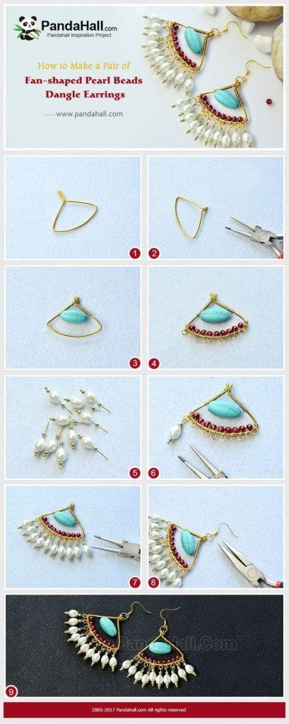 fabriquer ses boucles d'oreilles pendantes